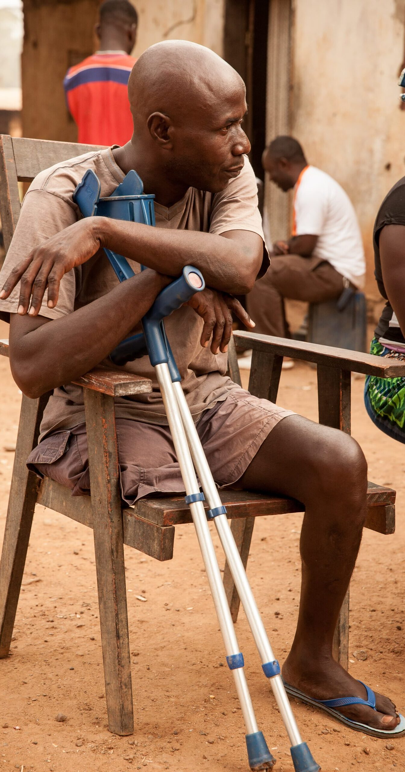 Man with a physical disability in Cameroon